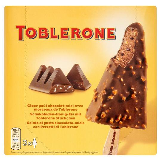 Toblerone Ice-Cream 3 x 100ml - £2 @ Iceland