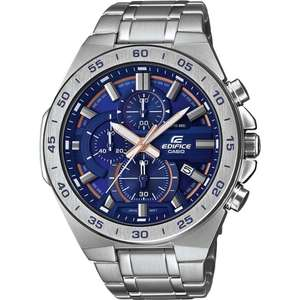 Casio EFR-564D-2AVUEF Edifice Blue & Silver Stainless Steel Chronograph Men's Watch £65 at Watches2u