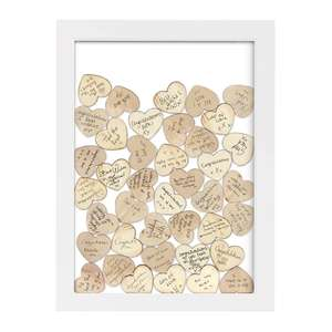Celebration Drop Box Hanging Frame With 55 wooden Hearts - 30x42cm -  £5 @ The Works - Free C&C