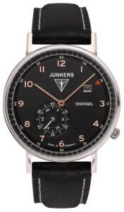 Junkers 6730-5 Series Eisvogel F13, Black/Rose Gold, 50M WR, 37mm, Ronda 6004D Quartz, Swiss Made, 5 Jewels Now £53 @ TKMaxx