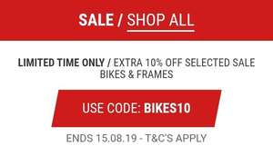 Limited Time Only / Extra 10% Off Selected Sale Bike & Frames (With Code) @ Wiggle
