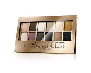 Maybelline 24 Karat Nudes Eye Shadow Palette 9.6g at Amazon for £6.66 delivered Prime / £8.27 non Prime sold by Mr Cosmetics and FBA