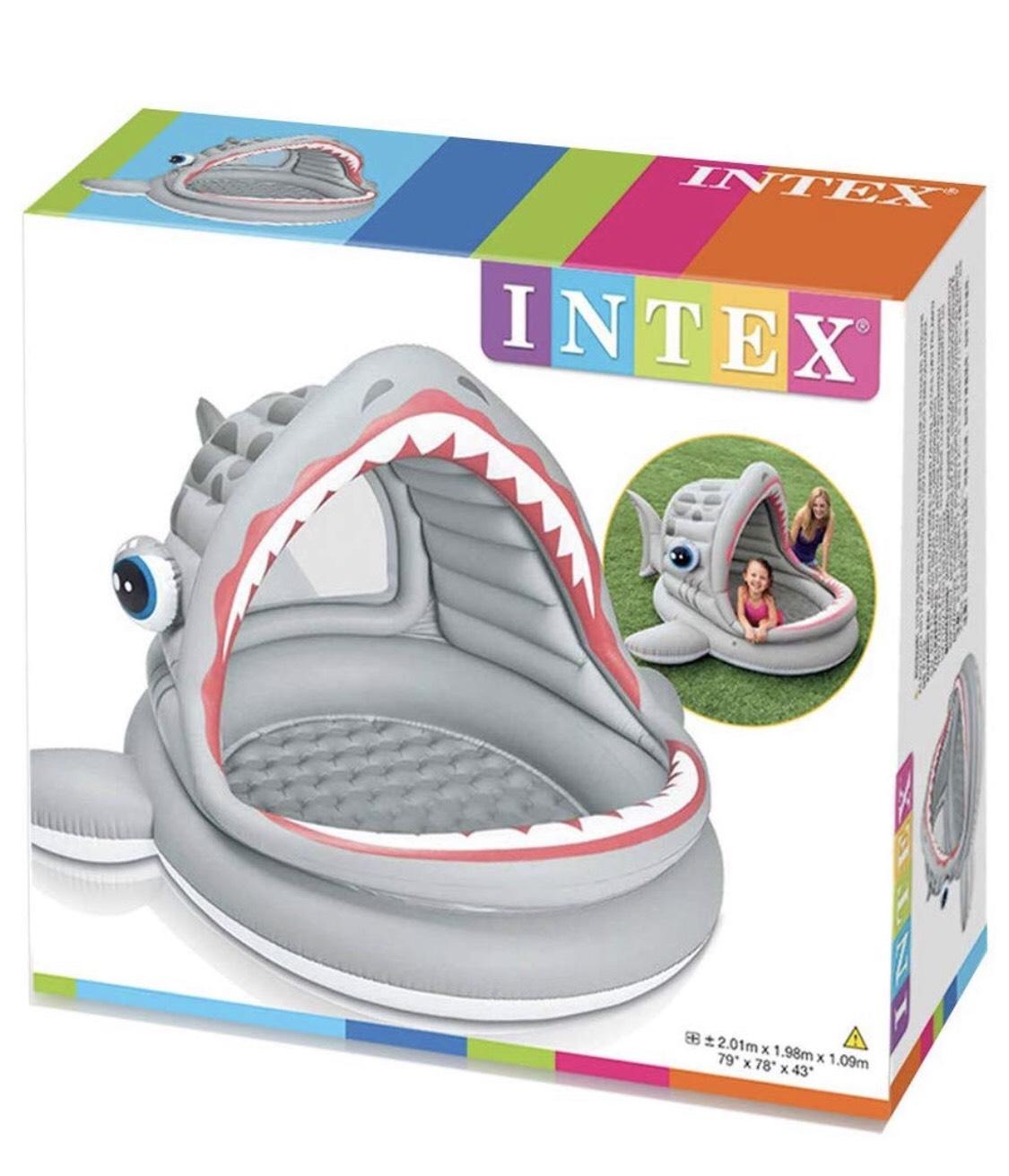 Intex Roarin' Shark Shade Pool  £7.50 at Tesco instore