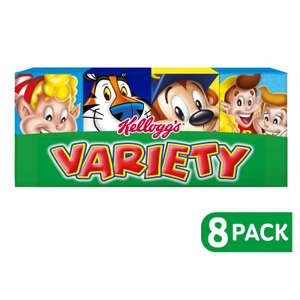 Kellogg's Variety Pack Cereal 8 Pack now £1 at Asda Groceries discount deal