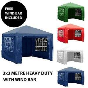 Gazebo Marquee Party Tent With Sides Waterproof - 3x3m now £34.08 next day delivered @ eBay /  bargaindiscountdeals-uk