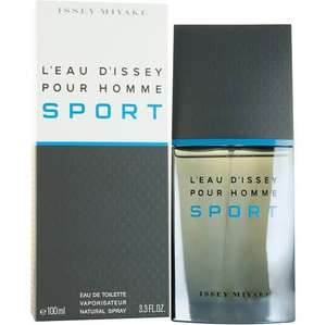 ISSEY MIYAKE L'Eau D'Issey Pour Homme Sport Eau de Toilette Spray 100ml FOR JUST £29.20 at All Beauty