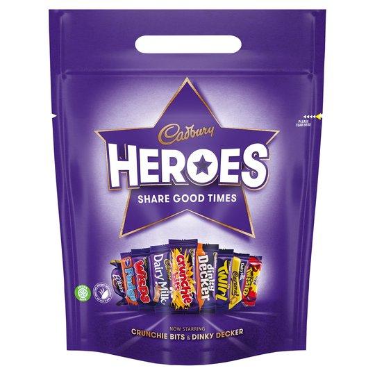 Cadbury's Chocolate pouches 400g £2.50 @ Tesco