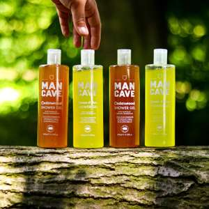 ManCave 4x500ml Shower Gel +  free Totebag £16 @ mancaveinc