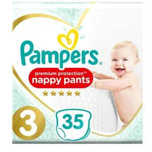 Buy 1 get 1 Free Pampers Premium Protection Nappy Pants - sizes 3, 4, 5 & 6 are all £8 each and on BOGOF offer @ Boots