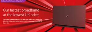 Vodafone Superfast 2 Broadband for the price of Superfast 1 £20 per month/18 months at Vodaphone Shop (Existing customers) £23(New customer)