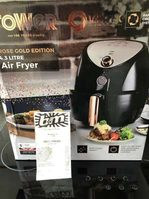 Tower Air Fryer 4.3L Rose Gold Edition - £29.99 instore @ B&M