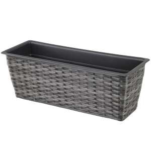 Mansion Rectangular Rattan Planter £4.43 @ Robert Dyas (Free C&C) Others available. More in OP