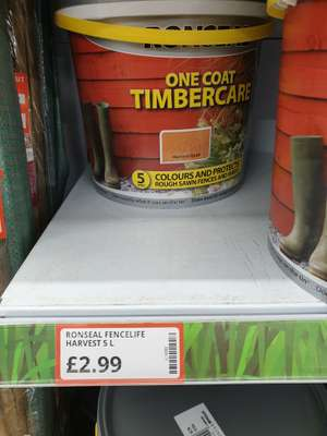 Ronseal Fence Life - £2.99 Instore @ Poundstretcher