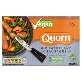 Quorn 2 Ultimate Burgers - £1.98 and Quorn Vegan 6 Cumberland Sausages on offer - £1.66 at Waitrose & Partners