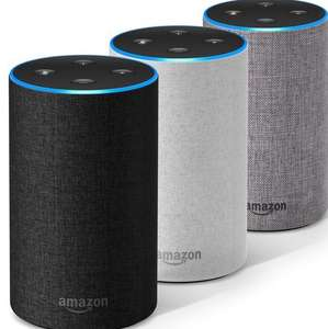 Amazon Echo 2nd Gen -  2 for £94.98 (£47.48 each) with code inc Charcoal/Grey/Sandstone @ Currys