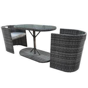 Monaco Nesting Bistro Set - Grey Reduced from £379.99 to £116.94 with code at Robert Dyas Plus £15 Delivery