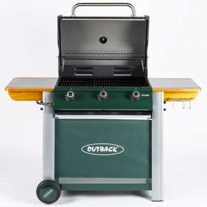 Outback Hunter 3 Burner Gas BBQ - Green Reduced from £374/99 to £193.44 with code at Robert Dyas