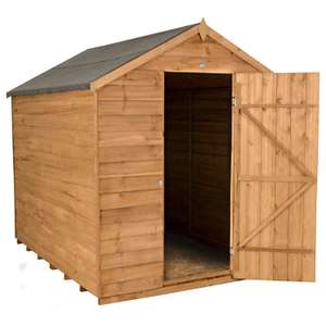 Forest Garden 8x6 Apex Security Overlap Garden Shed now £205.84 delivered at Amazon