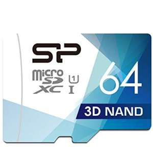 Silicon Power 64GB MicroSDXC UHS-1 Memory Card £6.99 (Prime) £11.48 (Non Prime) @ Amazon