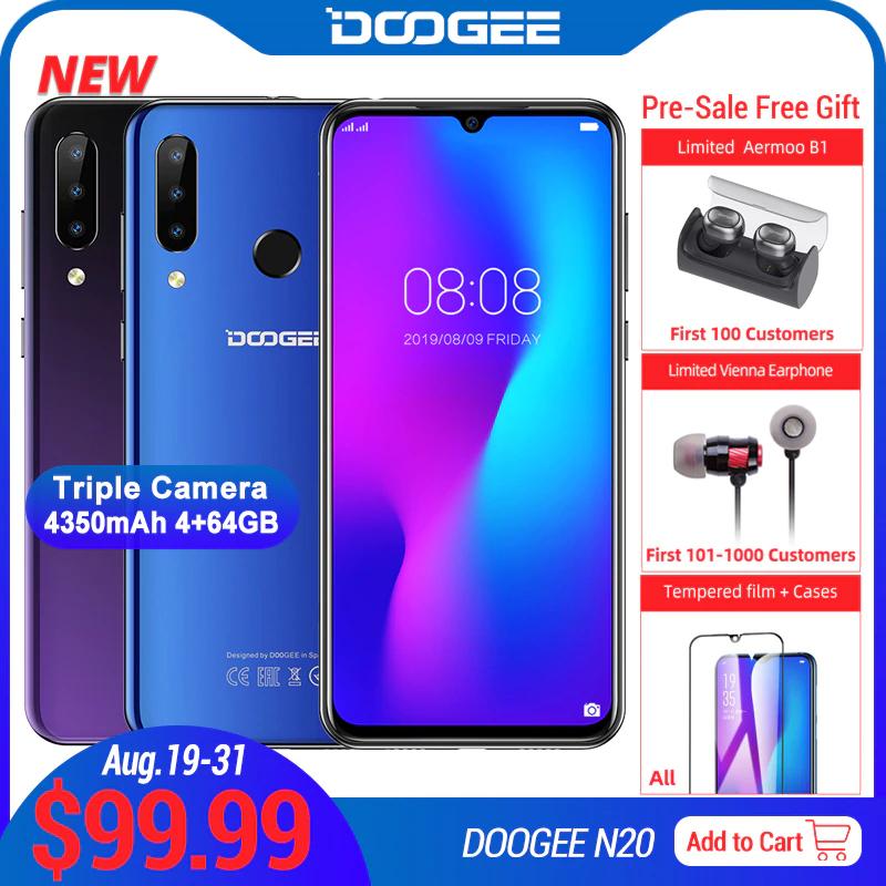 DOOGEE N20 - Helio P23/4+64GB/4350mAh - £82.81 - Ali Express (AliExpress Doogee Official Store) - Possible free headphones too