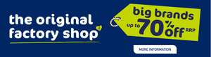 The Original Factory shop Clearance stores (Norwich & Burnley) 75% off