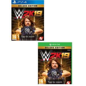 WWE 2K19 Deluxe Edition (PS4)/(Xbox One) for £12.99 free C&C @ Game
