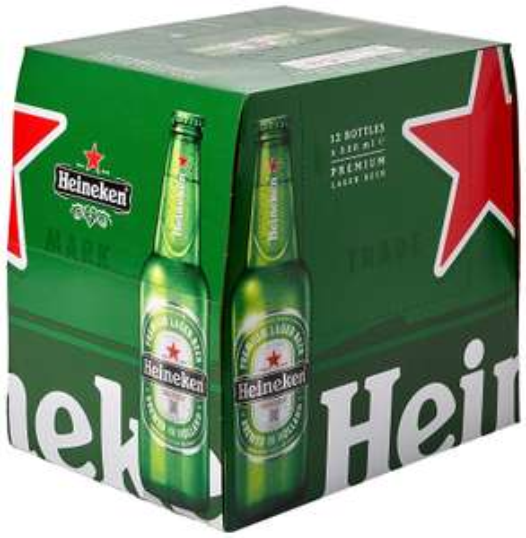 Heineken Lager Beer 12x330ml bottles 3 for £21 (£7 a case) Asda