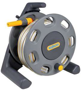 Hozelock Garden 30m Hose Reel with 20m Hose + 3 Year Warranty - £19.95 + Free C&C @ Homebase