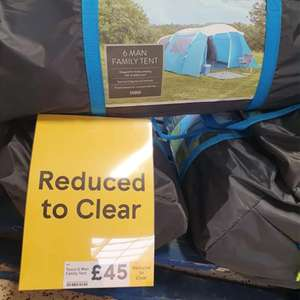 6 man family tent in Tesco Narborough road Leicester - £45