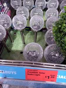 Aldi Premium Solar Stake Light in-store for £1.99