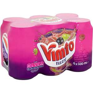 Vimto fizzy Zero 6x330ml cans instore at B&M for £1.69