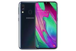 Samsung Galaxy A40 64 GB Android Dual-SIM 5.9 Inch Smartphone - Black (UK Version) @ Amazon