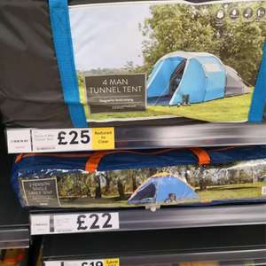 4 berth tent instore at Tesco for £25 (found Exeter)