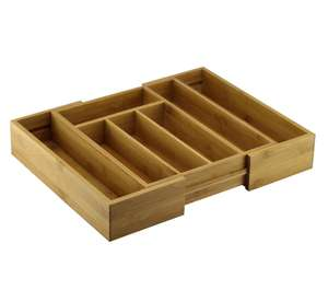 Cooke & Lewis Bamboo Extendable Cutlery Tray Was £10, Now £5 @ B&Q (Free C&C)