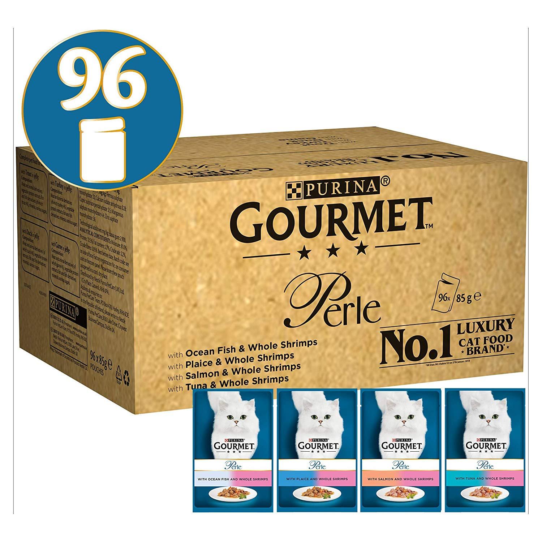Gourmet Perle Ocean Delicacies in Gravy, 96 x 85 g £17.14 (free prime delivery) or + £4.49 delivery non prime @ Amazon