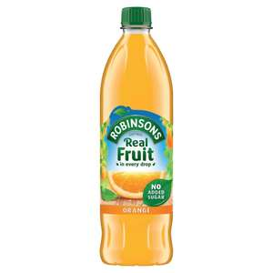 Robinsons Real Fruit orange juice 1L £0.80 @ Wilko