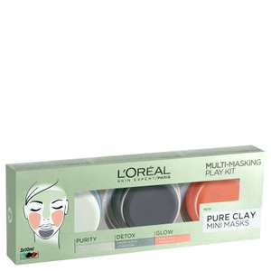 L'Oréal Paris Pure Clay Mask Multi-Masking Kit £2.59 + Free Delivery @ Look Fantastic
