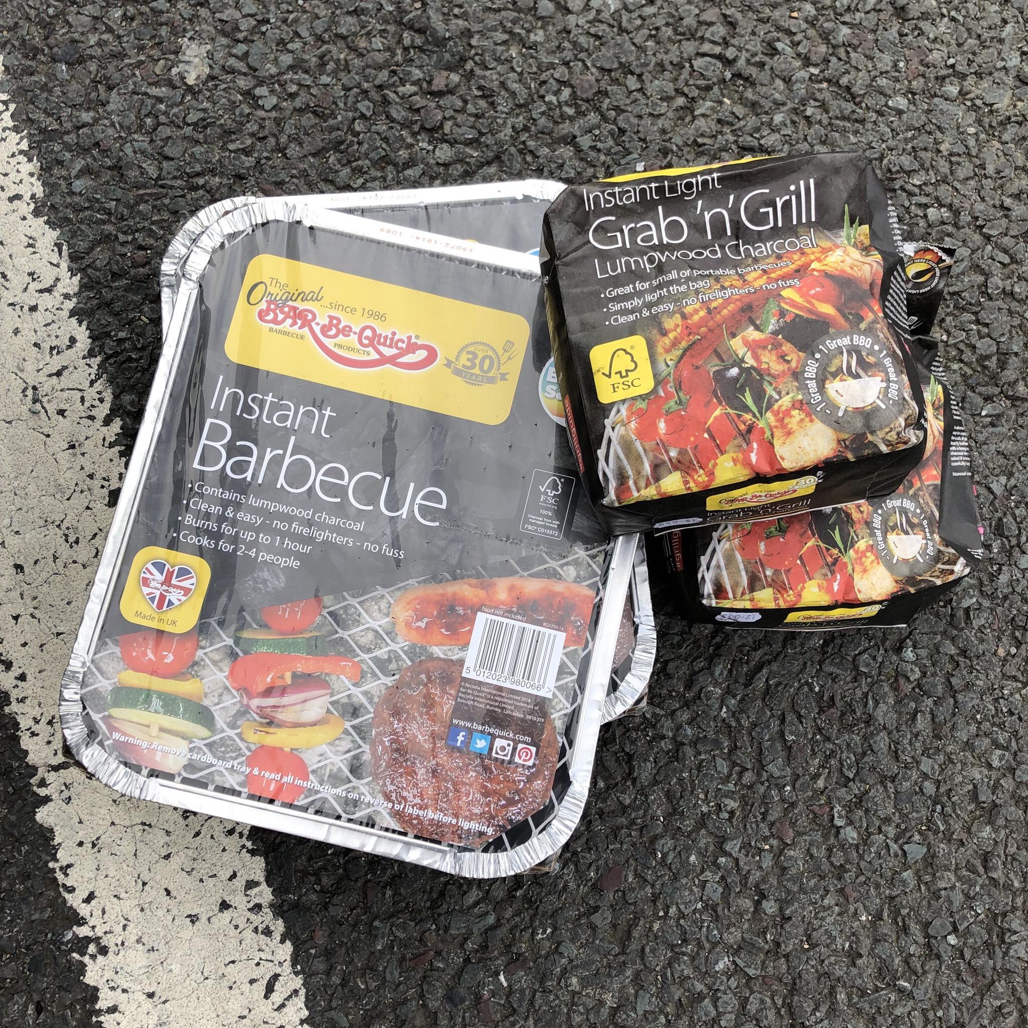 Instant BBQ 84p / Grab 'n' Grill Bags 72p @ Asda