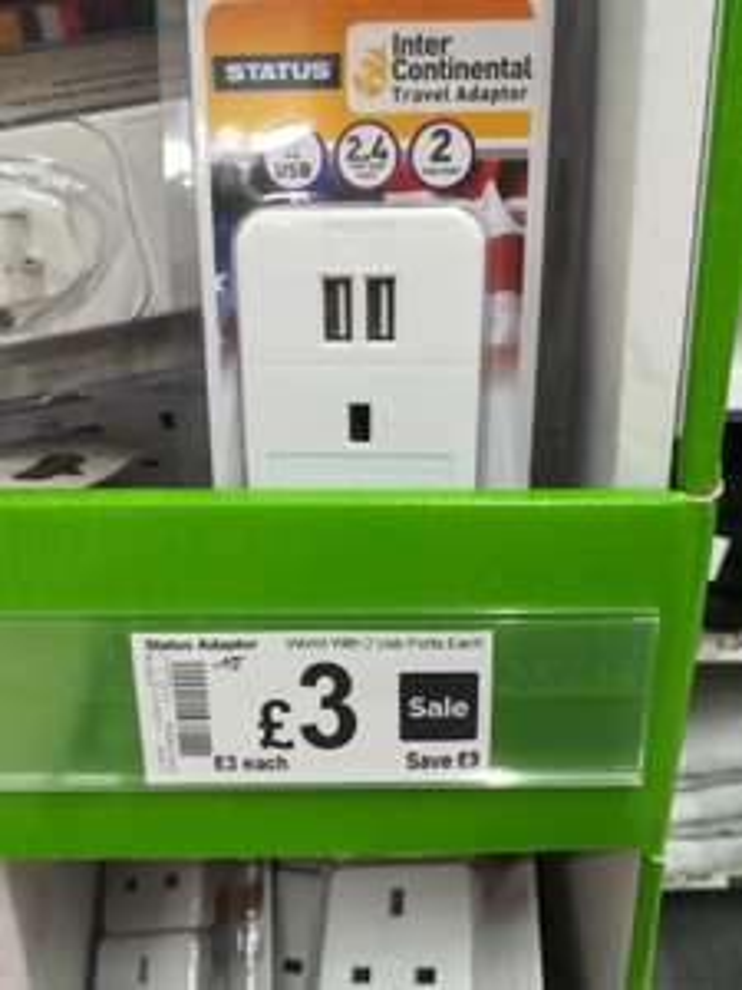 120V Intercontinental Travel Adaptor inc 2 USB Ports £3 instore @ Asda