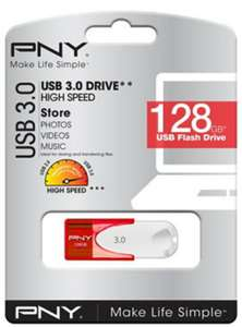 PNY Attache 4 128GB USB 3.0 (80MB/s R, 20MB/s W) Memory Stick/Drive for £9.99 Delivered @ Base