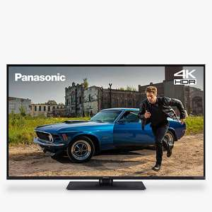 "Panasonic TX-55GX550B (2019) LED HDR 4K Ultra HD Smart TV, 55"" with Freeview Play, Black £499 + 5 year guarantee @ John Lewis & Partners"