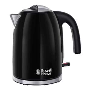Russell Hobbs 20413 Colour Plus Kettle, Stainless Steel, 3000 W, 1.7 Litre, Black @ Amazon - £19.99 Prime / £24.48 non-Prime