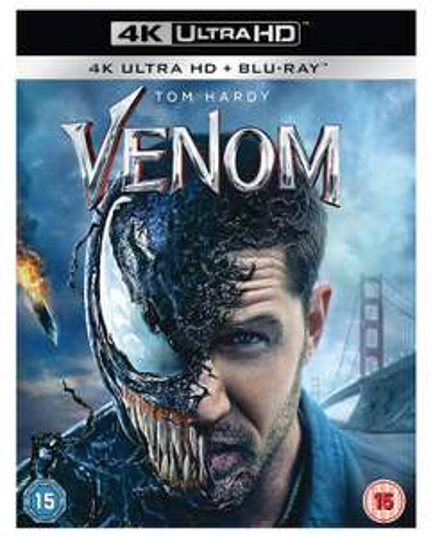 Venom 4K Blu-Ray - Sold by NextDayEntertainment / Fulfilled by Amazon - £13.85 Prime / £18.34 non-Prime