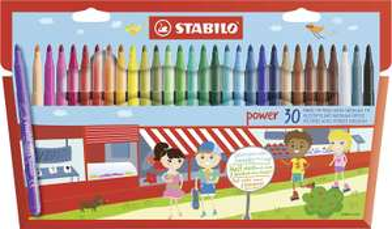 Felt Tip Pen - STABILO power wallet of 30 assorted colours £5 @ Amazon (£4.49 delivery Non Prime)