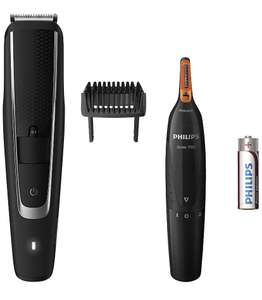 Philips BT5503/83 Series 5000 Beard and Stubble Trimmer with Series 3000 Nose, Ear and Eyebrow Trimmer - Amazon deal of the day £30