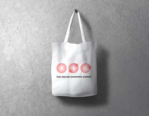 Limited Edition White Recycled Organic Cotton Tote Bag - Free