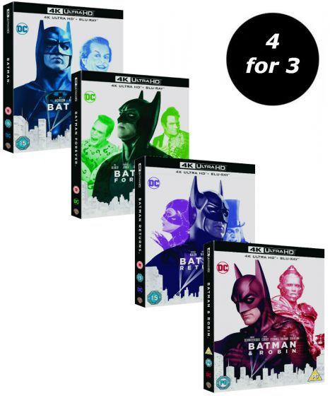 Batman original 4 films in 4k blu ray - £53.99 @ Warner Bros Shop