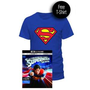 Superman Ultra Hd 4k And Free Tshirt - £17.99 for 1st Time Purchases Otherwise £19.99 @ Warner Bros Shop