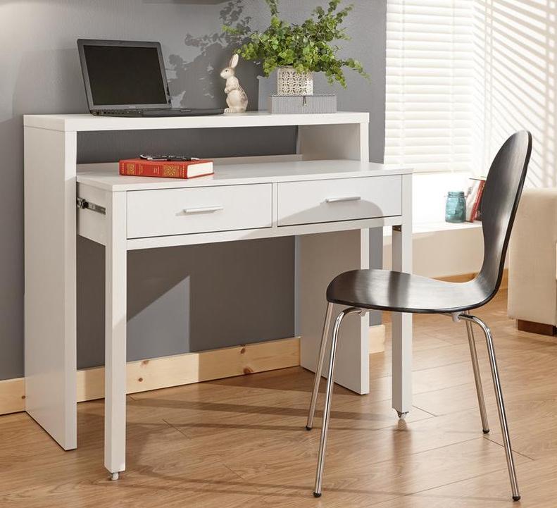 Regis Extending Table Console Desk White/Oak/Black/Grey - £68.98 Free Delivery - Groupon