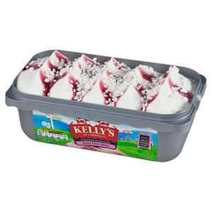 Tesco-Kelly's Cornish Ice Cream 1ltr- Berry Eton Mess/Clotted Cream- £2.00 was £3.99